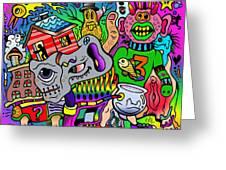 Color Bash Acid Tweeter Greeting Card