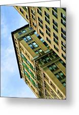 Color Buildings Architecture New York  Greeting Card