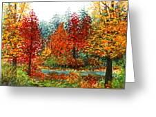 Color Burst Forest Greeting Card