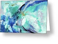 Color Chaos Aqua Greeting Card