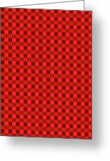Color Dots On Red Drawing Abstract #7 Greeting Card