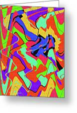 Color Drawing Abstract #3 Greeting Card