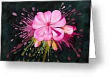 Color Eruption  Greeting Card