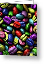 Color Full Coffe Beans Greeting Card