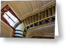 Color Interior Stairs  Greeting Card