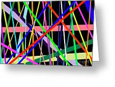 Color Lines Variety Background Greeting Card