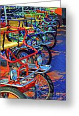 Color Of Bikes Greeting Card