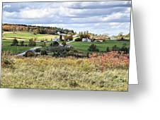 Color On The Hills Greeting Card