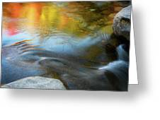 Color On The Swift River Nh Greeting Card