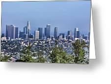 Color Pano Los Angeles California  Greeting Card