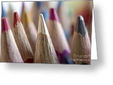 Color Pencils Close-up Greeting Card