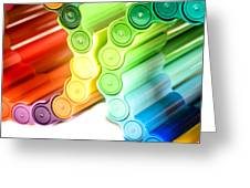 Color Pens 3 Greeting Card