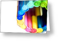 Color Pens 8 Greeting Card