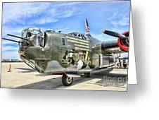Color Side Wwii B-24j Greeting Card