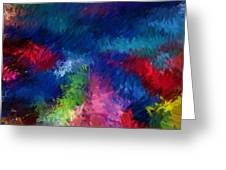 Color Splash Abstract 080210 Greeting Card