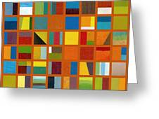 Color Study Collage 66 Greeting Card by Michelle Calkins