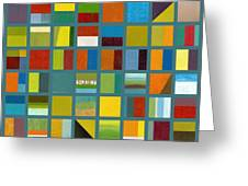 Color Study Collage 67 Greeting Card by Michelle Calkins