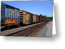 Color Train Greeting Card