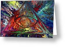 Color Triangle Greeting Card