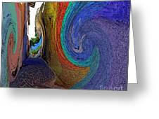 Color Undertow Greeting Card