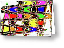Color Wave Abstract Greeting Card