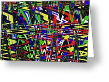 Color Works Abstract Greeting Card