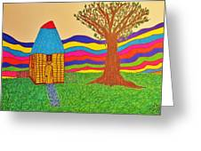 Colorful Fantasy Land Greeting Card