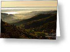 Colorado And Manitou Springs Valley In Fog Greeting Card