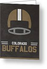 Colorado Buffalos Vintage Football Art Greeting Card