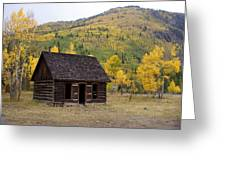 Colorado Cabin Greeting Card by Marty Koch