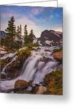 Colorado Cascading Waters Greeting Card