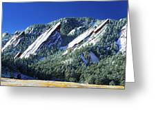 Colorado Flatirons Greeting Card by Marilyn Hunt