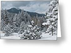 Colorado Foothills Winter Panorama Greeting Card