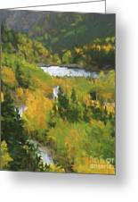 Colorado Lake And Colors Greeting Card