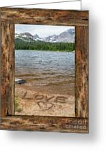 Colorado Love Window  Greeting Card