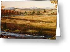Colorado Meadow Morning Greeting Card