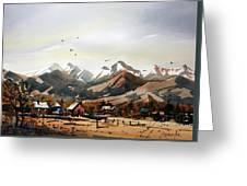 Colorado Mountain Ranch Greeting Card