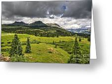 Colorado Mountains After Summer Rain Greeting Card