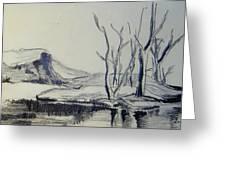 Colorado Pencil Sketch Greeting Card by Judith Redman