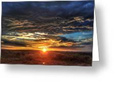Colorado Plains Sunset Greeting Card