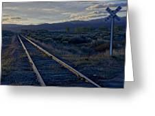 Colorado Railroad Crossing Greeting Card