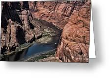Colorado River Horseshoe Bend Color  Greeting Card