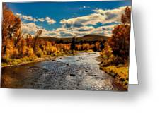 Colorado River In Autumn Greeting Card