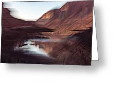 Colorado River In Winter Greeting Card