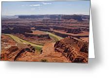 Colorado River Ox Bow Greeting Card