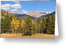 Colorado Rockies National Park Fall Foliage Panorama Greeting Card