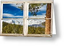 Colorado Rocky Mountain Rustic Window View Greeting Card