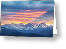 Colorado Rocky Mountain Sunset Waves Of Light Part 1 Greeting Card