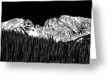 Colorado Rocky Mountains Indian Peaks Fine Art Bw Print Greeting Card