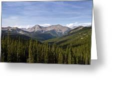 Colorado Rocky Mountains Near Monarch Pass Greeting Card
